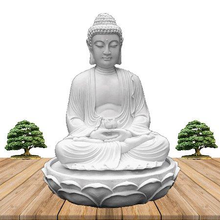 Fonte Buda Zen Lótus Marmorite 50cm 110V