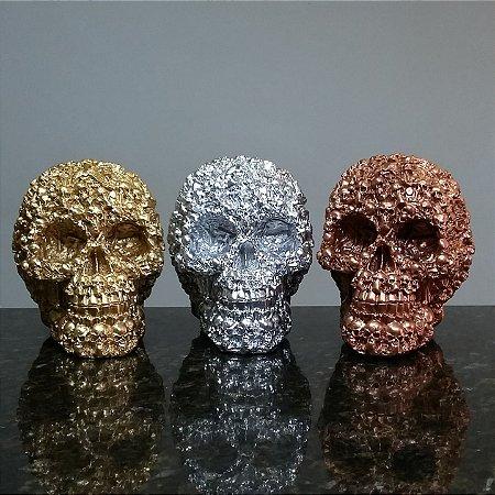 Trio de Caveiras Metalic Bones