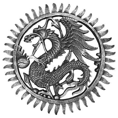 Mandala Dragon Silver