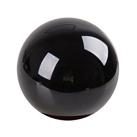 Esfera De Pedra Vulcânica Obsidiana Negra 4 Cm