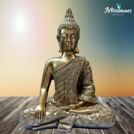 Big Buda Bhumisparsha Mudra Gold