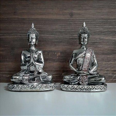 Par de Mini Budas Atmanjali Crome