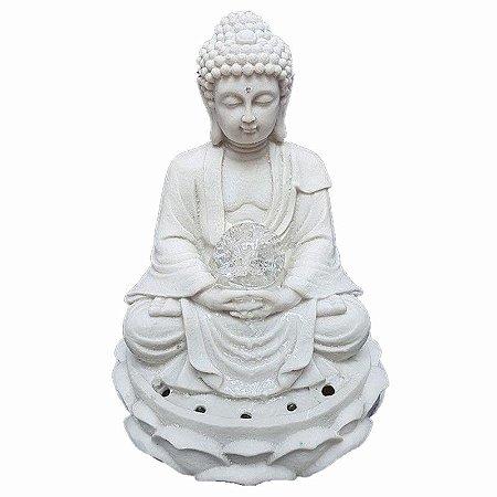 Fonte Buda Zen Lótus Marmorite 32 cm 110V