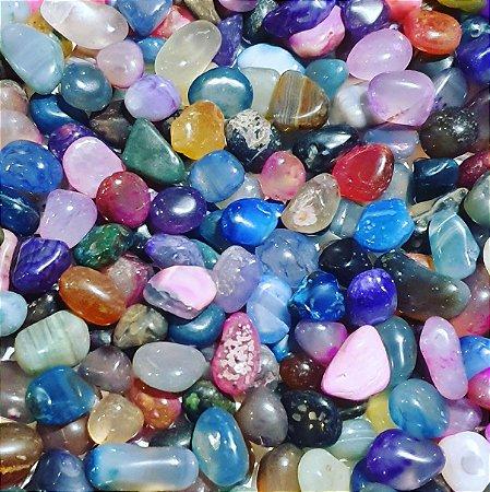 Pedras Ágata Extra Com Lapidação Rolada Pacote 1 KG