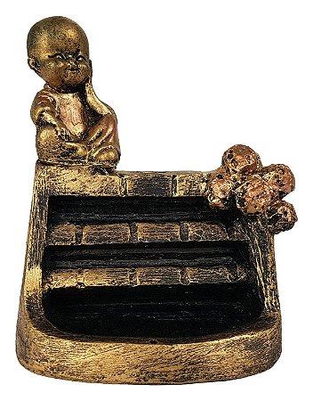 Incensário Cascata Buda Bebê