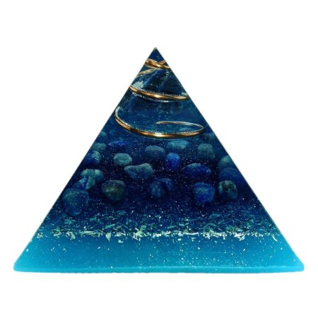 Orgonite Pirâmide Turquesa - Sabedoria | 6x5 cm