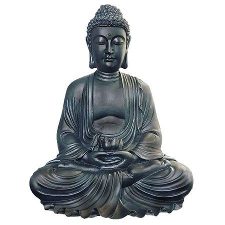 Buda Estátua Dhyana Mudra 57 Cm - Marmorite | Black