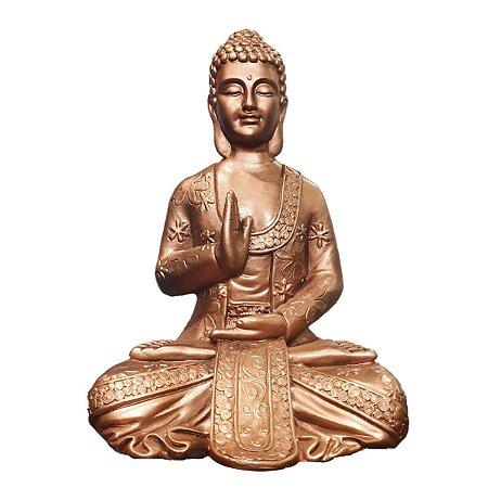 Big Buda Abhaya Mudra Copper