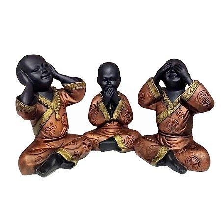 Trio de Monges Sábios Copper Gold