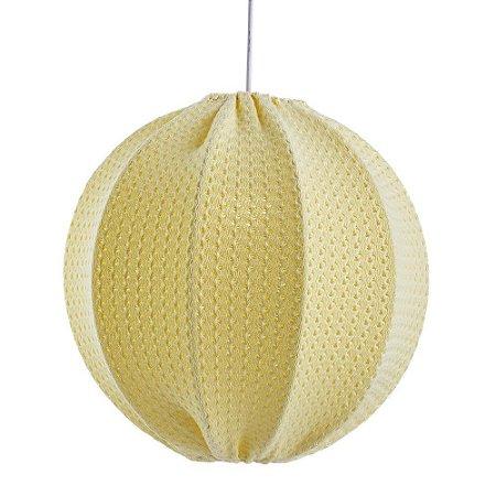 Lustre de Tricot Amarelo