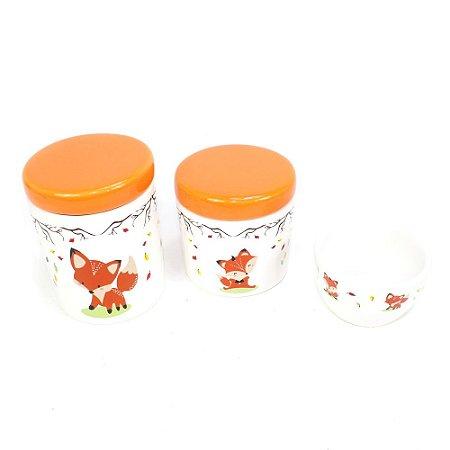 Kit Higiene Raposinha sem Bandeja - 03 Peças