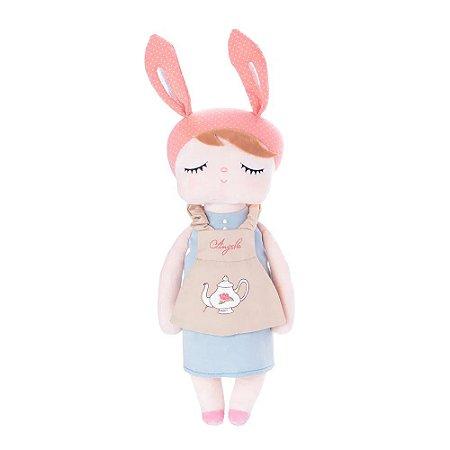 Boneca Angela Doceira Retro Bunny Rosa 33cm -Metoo