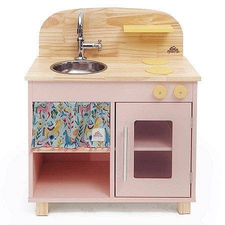 Cozinha de Madeira Infantil Rosa