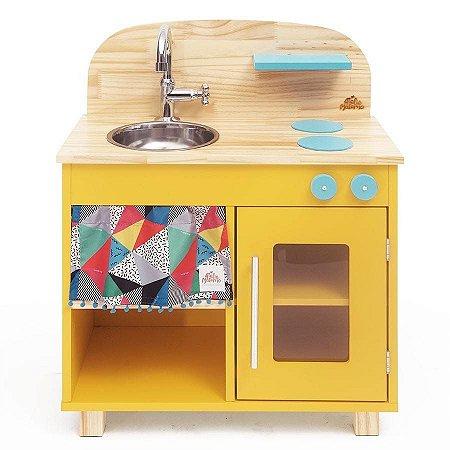 Cozinha de Madeira Infantil Amarela