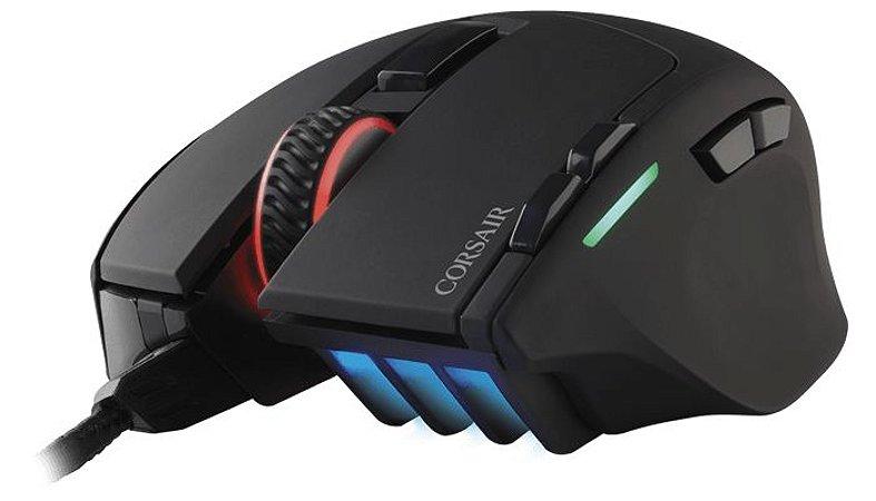 Mouse Corsair Gaming Sabre RGB Led Customizável 8 Botões 10.000 DPI Preto CH-9303011-NA