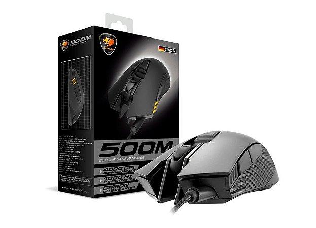 Mouse Cougar Gamer 500M 6 Botões 4000 Dpi Preto