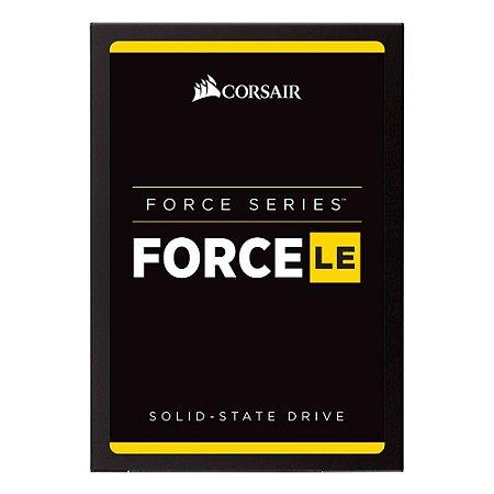 SSD Corsair Force LE 2.5´ 480GB SATA III 6Gb/s Leituras: 560MB/s e Gravações: 530MB/s - CSSD-F480GBLEB