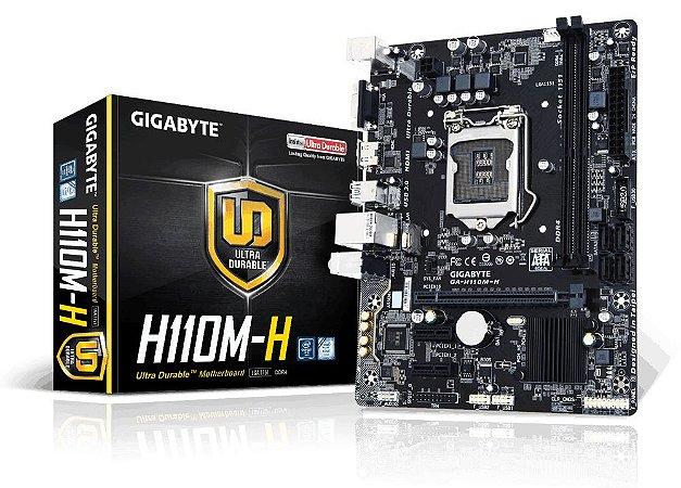 Placa-Mãe GIGABYTE Intel LGA 1151 mATX GA-H110M-H DDR4