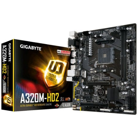 Placa-Mãe GIGABYTE AMD AM4 mATX GA-A320M-HD2 DDR4