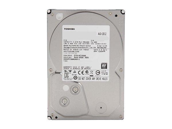 """HD TOSHIBA 3.5"""" DT01ACA300 3TB 7200 RPM 64MB Cache SATA 6.0Gb/s"""