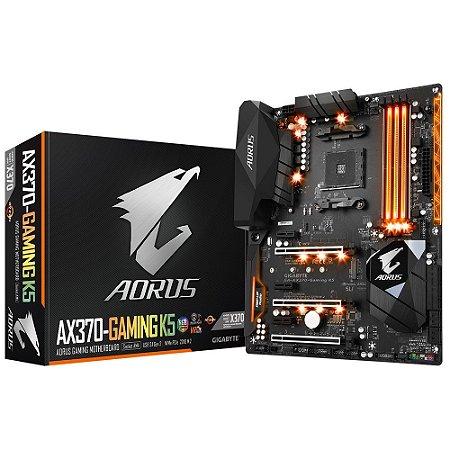 Placa-Mãe GIGABYTE AMD AM4 ATX AORUS GA-AX370-GAMING K5 DDR4