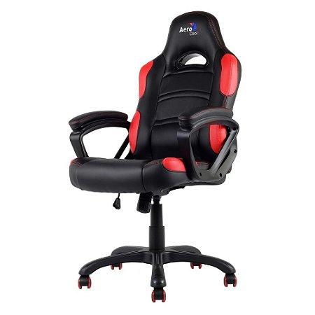 Cadeira Gamer Aerocool AC80C Preta/Vermelha, EN55048
