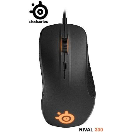 Mouse Gamer Steelseries Óptico Rival 300 Preto - 62351