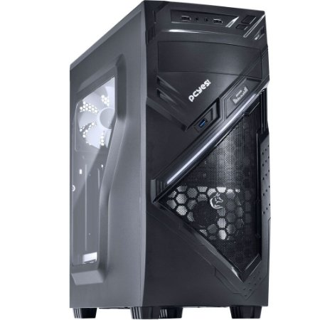 Gabinete PcYes Mid Tower Chacal Branco Lateral em Acrílico 24560