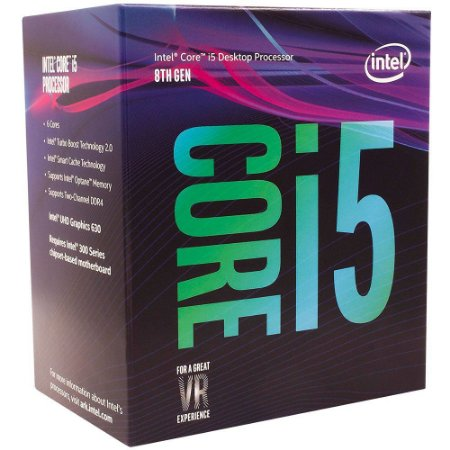 Processador Intel i5-8400 Coffee Lake 8a Geração, Cache 9MB, 2.8GHz (4.0GHz Max Turbo), LGA 1151 Intel UHD Graphics 630 - BX80648158400