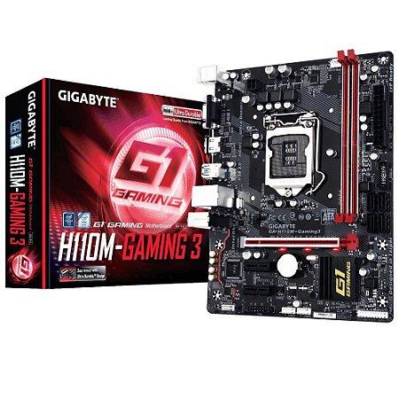Placa-Mãe GIGABYTE Intel LGA 1151 mATX GA-H110M-GAMING 3 DDR4