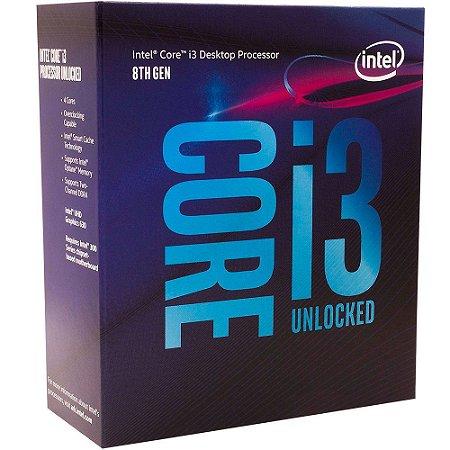 Processador Intel Core i3-8350k Coffee Lake 8a Geração, Cache 8MB, 4.0GHz, LGA 1151 Intel UHD Graphics 630 - BX80684I38350K