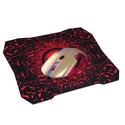 Mouse Gamer Marvo Scorpion M416 1000/2400 DPI + G1 BK