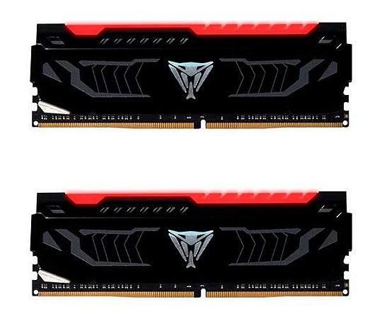 Memória Patriot Viper LED Vermelho 8GB (2x 4GB) 3000MHz DDR4 - PVLR48G300C5K