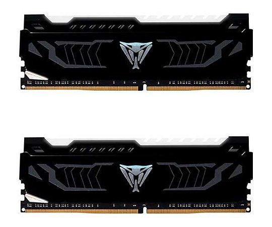 Memória Patriot Viper LED Branco 16GB (2x 8GB) 2400MHz DDR4 - PVLW416G240C4K
