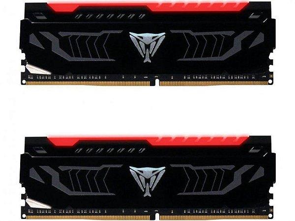 Memória Patriot Viper LED Vermelho 16GB (2x 8GB) 2666MHz DDR4 - PVLR416G266C5K