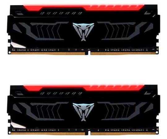 Memória Patriot Viper LED Vermelho 16GB (2x 8GB) 3000MHz DDR4 - PVLR416G300C5K