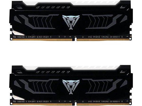 Memória Patriot Viper LED Branco 16GB (2x 8GB) 3600MHz DDR4 - PVLW416G360C6K