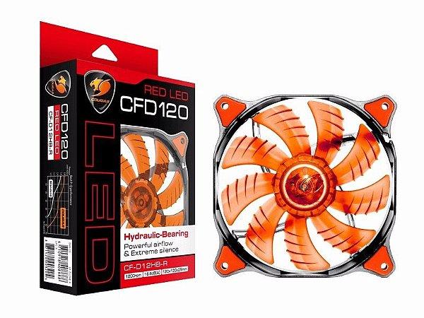 Ventilador Cougar Gaming CFD 120mm LED VERMELHO