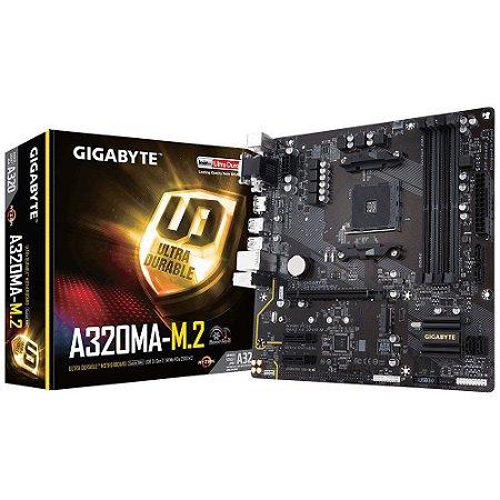 Placa-Mãe GIGABYTE AMD AM4 mATX GA-A320MA-M.2 DDR4
