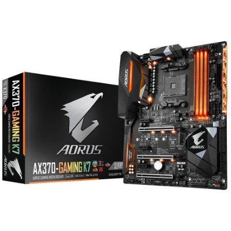 Placa-Mãe GIGABYTE AMD AM4 ATX AORUS GA-AX370-GAMING K7 DDR4