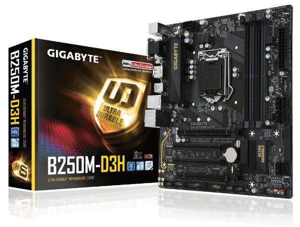 Placa-Mãe GIGABYTE Intel LGA 1151 mATX GA-B250M-D3H