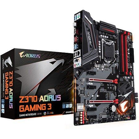 Placa-Mãe GIGABYTE Intel LGA 1151 ATX Z370 AORUS GAMING 3 DDR4