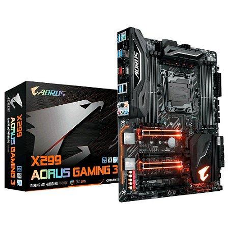 Placa-Mãe GIGABYTE Intel LGA 2066 ATX X299 AORUS GAMING 3 DDR4
