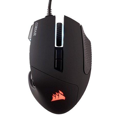 Mouse Corsair Gamer Scimitar Pro RGB Preto - CH-9304111-NA