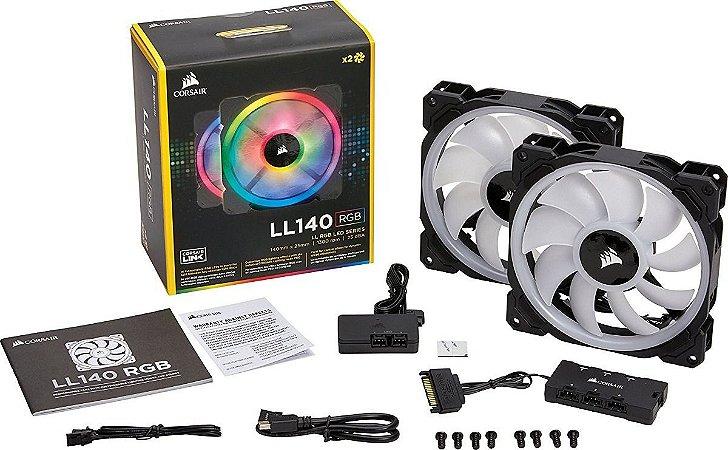Ventilador Corsair LL140 RGB Dual Light Loop RGB 2 x 140mm