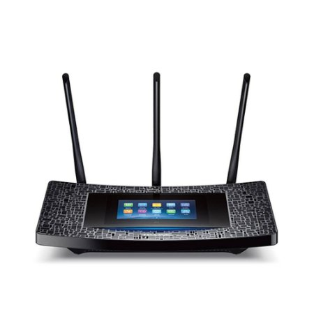 Roteador Gamer TP-Link Touch P5 AC1900 Dual Band 2 Antenas Wi-Fi Gigabit Touch Screen Preto