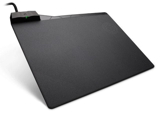 Mousepad Gamer Corsair 350x260x5mm Medio Speed Rigido com Carregamento sem fio Preto MM1000 - CH-9440022