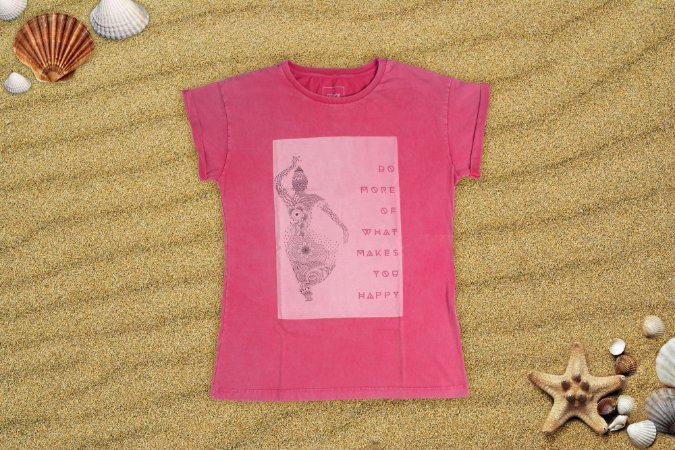 Camiseta Feminina  - Happines 2017