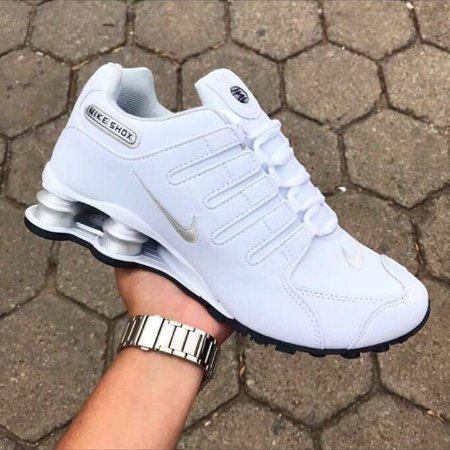 d9022ae679 Tênis NIKE Shox Junior Branco - Pontual Shoes - Distribuidora de ...