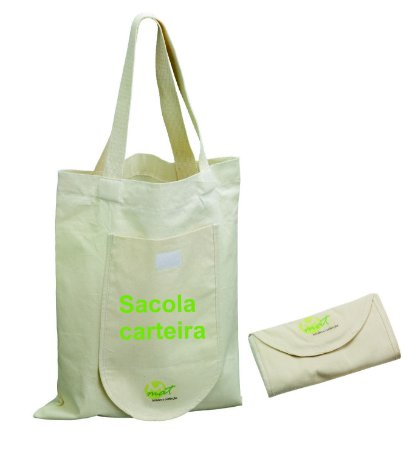 Sacola dobrável ecologica personalizada